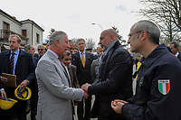 Il Principe Carlo, Sergio Pirozzi e Fabrizio Curcio<br /> Amatrice 02/04/2017. Il Principe Carlo del Galles in visita nella zona terremotata di Amatrice<br /> Amatrice April 2nd 2017. Prince Charles of Wales visits Amatrice, hit by the earthquake of 24 August. <br /> Foto Pool / Protezione Civile / Insidefoto