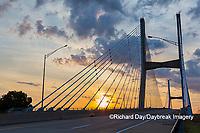 65095-02905 Bill Emerson Memorial Bridge at sunrise over Mississippi River Cape Girardeau  MO