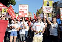 ROMA, 27 MAGGIO 2017<br /> Lavoratrici e lavoratori ACI informatica<br /> Manifestazione per Salvare Alitalia e salvare l'Italia, promossa dai sindacati di base USB ,CUB, Cobas, contro licenziamenti, precariet&agrave; e le politiche sul lavoro del Governo