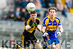 Kieran O'Leary Dr Crokes in action against Tadhg Morley Kenmare District in the Senior County Football Championship final at Fitzgerald Stadium on Sunday.