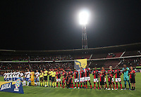 CÚCUTA- COLOMBIA, 02-10-2019:Formación del Cúcuta Deportivo.Acción de juego entre los euipos Cúcuta Deportivo  y Millonarios  durante partido por la fecha 14 de la Liga Águila II  2019 jugado en el estadio General Santander de la ciudad de Cúcuta . /Team of Cucuta Deportivo.Action game between  Cucuta Deportivo and Millonarios during the match for the date 14 of the Liga Aguila II 2019 played at the General Santander  stadium in Cucuta  city. Photo: VizzorImage / Manuel Hernández  / Contribuidor