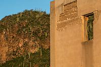 Sahuaros y catus en la monta&ntilde;a.  <br /> Rancho eco tur&iacute;stico El Pe&ntilde;asco en el pueblo Magdalena de Kino. Magdalena Sonora. <br /> &copy;Foto: LuisGutierrrez/NortePhoto ....<br /> Construccion antigua de adobe deteriarado.<br /> Rancho eco tur&iacute;stico El Pe&ntilde;asco en el pueblo Magdalena de Kino. Magdalena Sonora. <br /> &copy;Foto: LuisGutierrrez/NortePhoto