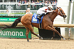 May 04, 2019 : #3 Mia Mischief and jockey Ricardo Santana Jr. win the 33rd running of The Humana Distaff Grade 1 $500,000 for trainer Steven Asmussen at Churchill Downs on May 04, 2019.  Candice Chavez/ESW/CSM