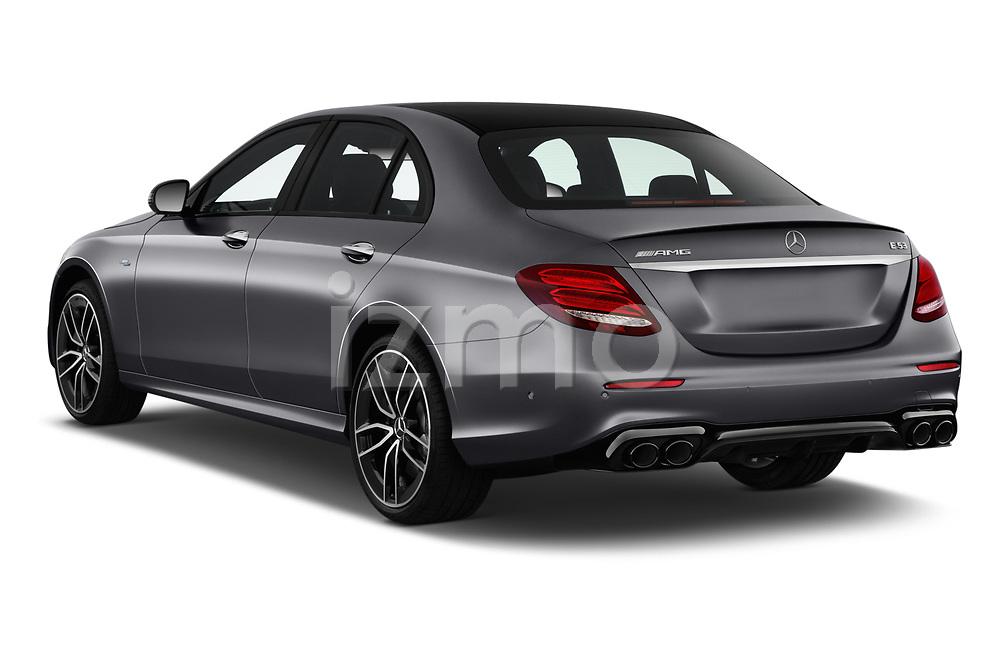 Car pictures of rear three quarter view of 2020 Mercedes Benz E-Class AMG-E53 4 Door Sedan Angular Rear