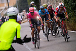 The final climb up to Basilica Superga with Michael Woods (CAN) EF Education First, Tiesj Benoot (BEL) Lotto-Soudal, Spanish Champion Alejandro Valverde (ESP) Movistar Team, Adam Yates (GBR) Mitchelton-Scott and Egan Bernal (COL) Team Ineos during the world's oldest classic the 100th edition of Milano-Torino running 179km from Magenta to the Basilica at Superga in Turin, Italy. 9th Octobre 2019. <br /> Picture: Marco Alpozzi/LaPresse | Cyclefile<br /> <br /> All photos usage must carry mandatory copyright credit (© Cyclefile | LaPresse/Marco Alpozzi)
