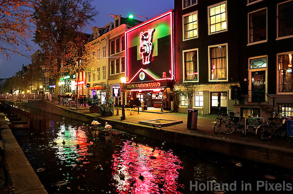 Amsterdam- Red Light District. Oudezijds Achterburgwal .Casa Rosso Sextheater