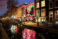 Amsterdam- Red Light District. Oudezijds Achterburgwal .Casa Rosso Sextheater