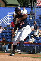 September 5, 2005:  Pitcher Anderson Garcia of the Binghamton Mets during a game at Jerry Uht Park in Erie, PA.  Binghamton is the Eastern League Double-A affiliate of the New York Mets.  Photo by:  Mike Janes/Four Seam Images