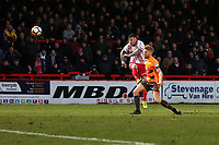 Jack King of Stevenage goes close to a goal during Stevenage vs Reading, Emirates FA Cup Football at the Lamex Stadium on 6th January 2018