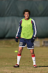16 November 2007: Miguel Gonzalez. The New England Revolution practiced at the RFK Stadium Auxiliary Field in Washington, DC two days before playing in MLS Cup 2007, Major League Soccer's championship game.