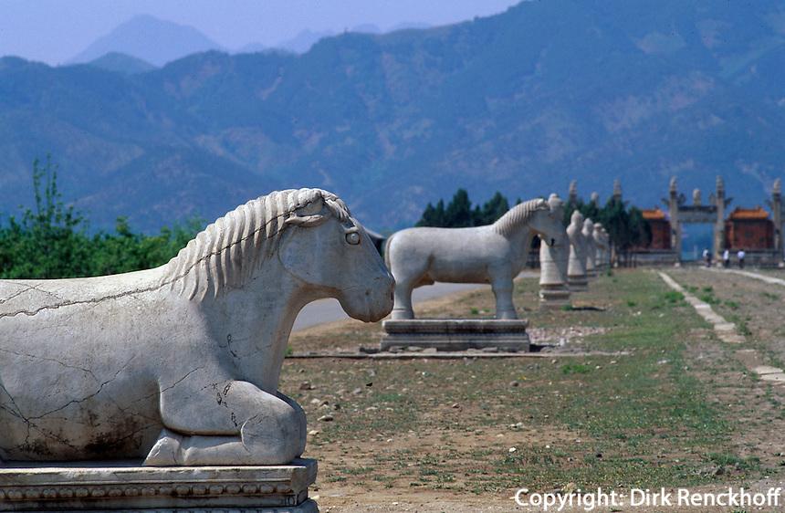 Grab Xiao Ling, Geisterallee, östliche Qinggräber (qing dong  ling) bei Peking (Beijing), China, Unesco-Weltkulturerbe