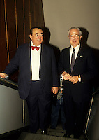 Montreal (Qc) Canada  file Photo - 1988 --  Robert Maxwell, <br /> , Andre Bisson