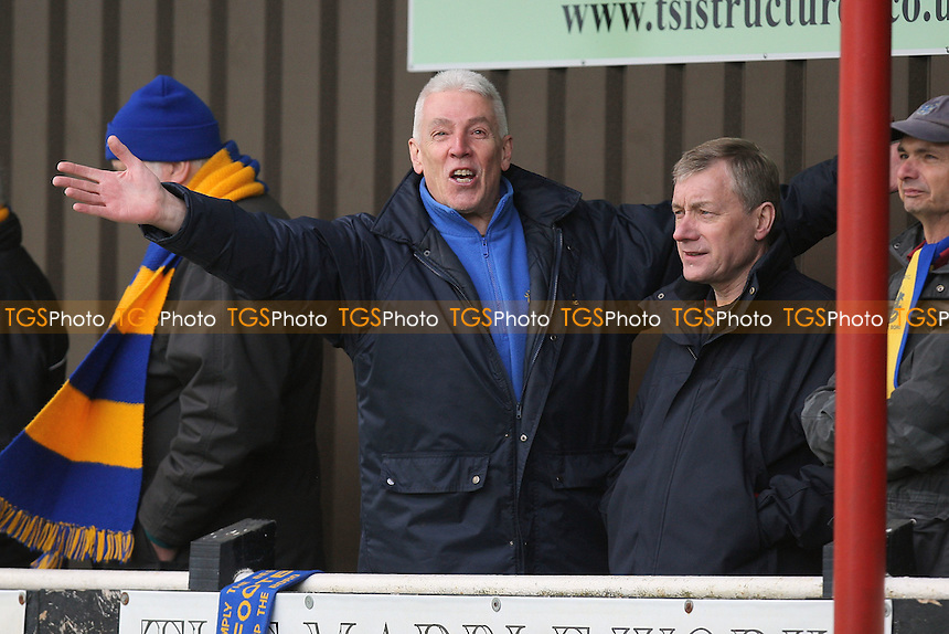 Romford fans enjoy their visit to Needham Market - Needham Market vs Romford - Ryman League Division One North Football at Bloomfields - 14/04/12 - MANDATORY CREDIT: Gavin Ellis/TGSPHOTO - Self billing applies where appropriate - 0845 094 6026 - contact@tgsphoto.co.uk - NO UNPAID USE.