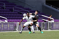 Orlando, Florida - Monday January 15, 2018: Frandtzy Pierrot and Lucas Stauffer. Match Day 2 of the 2018 adidas MLS Player Combine was held Orlando City Stadium.