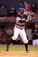 Wisconsin-Milwaukee Panthers third baseman Nick Unes (4) at bat during a game against the Ball State Cardinals on February 26, 2016 at Chain of Lakes Stadium in Winter Haven, Florida.  Ball State defeated Wisconsin-Milwaukee 11-5.  (Mike Janes/Four Seam Images)