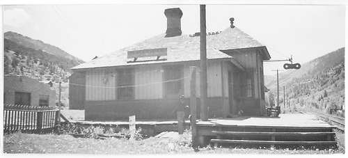 North end of the RGS Placerville depot.<br /> RGS  Placerville, CO  Taken by Arend, Lad G.