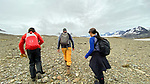 Rob, Stuart & Cynthia On Shackleton Hike - Last 6 Km. From Fortuna Bay To Stomness Harbor