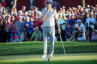 Martin Kaymer (Team Europe) misses the chance to take the match to the last during the Saturday Afternoon Four-Balls, at the 41st Ryder Cup 2016, at Hazeltine National Golf Club, Minnesota, USA.  01View of the 10th2016. Picture: David Lloyd | Golffile.