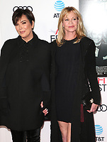 12 November 2017 - Hollywood, California - Kris Jenner, Melanie Griffith. &quot;The Disaster Artist&quot; AFI FEST 2017 Screening held at TCL Chinese Theatre. <br /> CAP/ADM/FS<br /> &copy;FS/ADM/Capital Pictures