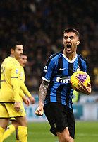 Calcio, Serie A: Inter Milano - Hellas Verona, Giuseppe Meazza stadium, November 9, 2019.<br /> Inter's Matias Vecino celebrates after scoring during the Italian Serie A football match between Inter and Hellas Verona at Giuseppe Meazza (San Siro) stadium, on November 9, 2019.<br /> UPDATE IMAGES PRESS/Isabella Bonotto