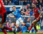 07.04.2018 Rangers v Dundee:<br /> Greg Docherty and Steven Caulker