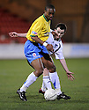 11/03/2008    Copyright Pic: James Stewart.File Name : sct_jspa14_dunfermline_v_hamilton.RICHARD OFFIONG GETS AWAY FROM NICKY PHINN.James Stewart Photo Agency 19 Carronlea Drive, Falkirk. FK2 8DN      Vat Reg No. 607 6932 25.Studio      : +44 (0)1324 611191 .Mobile      : +44 (0)7721 416997.E-mail  :  jim@jspa.co.uk.If you require further information then contact Jim Stewart on any of the numbers above........