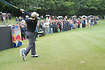 Padraig Harrington tees off on the 3rd hole during the 3rd round of the BMW PGA Championship at Wentworth Club, Surrey, England 26th may 2007 (Photo by Eoin Clarke/NEWSFILE)