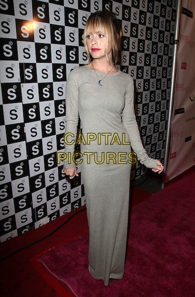 Taryn Manning.The Breast Cancer Charities of America 2 Annual Fashion Show Fundraiser Held at Superclub, Hollywood, California, USA..October 19th, 2011.full length grey gray maxi dress long sleeves .CAP/ADM/KB.©Kevan Brooks/AdMedia/Capital Pictures.