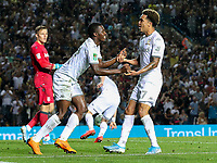 Leeds United's Helder Costa celebrates scoring his side's second goal with Eddie Nketiah<br /> <br /> Photographer Alex Dodd/CameraSport<br /> <br /> The Carabao Cup Second Round- Leeds United v Stoke City - Tuesday 27th August 2019  - Elland Road - Leeds<br />  <br /> World Copyright © 2019 CameraSport. All rights reserved. 43 Linden Ave. Countesthorpe. Leicester. England. LE8 5PG - Tel: +44 (0) 116 277 4147 - admin@camerasport.com - www.camerasport.com