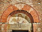 Faded frescoe, Pieve di San'Ippolito e Biagio, Castelfiorentino, Italy