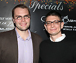 Playwright Samuel D. Hunter & boyfroiend attending the Opening Night Performance After Party for 'The Whale' at West Bank Cafe in New York City on 11/05/2012