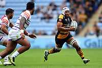 Nizaam Carr of Wasps in possession. Gallagher Premiership match, between Wasps and Leicester Tigers on September 16, 2018 at the Ricoh Arena in Coventry, England. Photo by: Patrick Khachfe / JMP