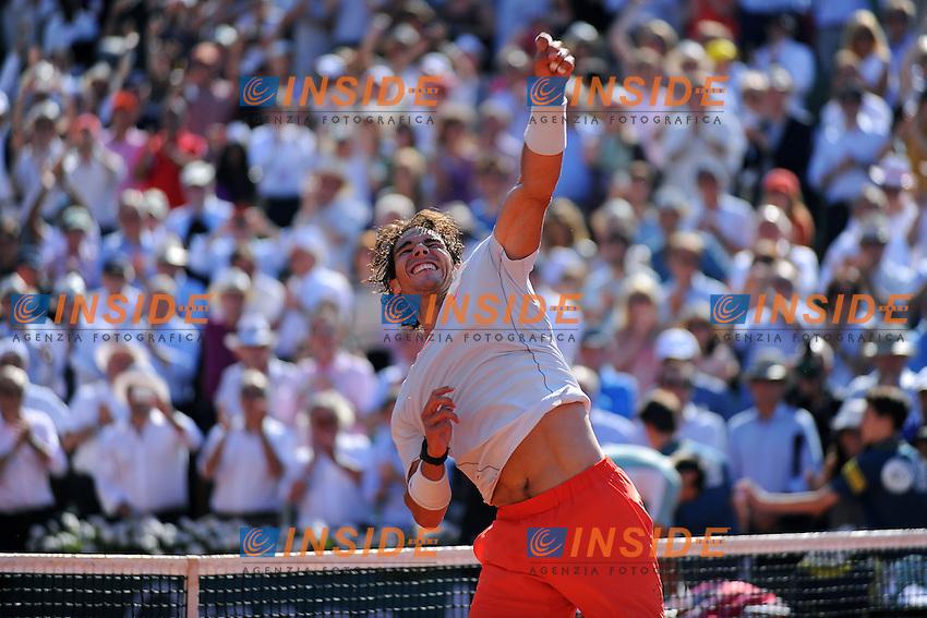 Rafael Nadal (ESP) <br /> Parigi 7/6/2013<br /> Tennis Roland Garros <br /> Foto Panoramic / Insidefoto<br /> ITALY ONLY