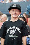 """A young fan in his new gear as the Aces are transformed into the Reno Ghost Riders for the """"What Could Have Been Weekend"""" series against the Salt Lake Bees on Thursday night July 12, 2012 at Aces Ballpark in Reno, NV."""