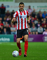 Lincoln City's James Wilson<br /> <br /> Photographer Andrew Vaughan/CameraSport<br /> <br /> The EFL Sky Bet League Two Play Off First Leg - Lincoln City v Exeter City - Saturday 12th May 2018 - Sincil Bank - Lincoln<br /> <br /> World Copyright &copy; 2018 CameraSport. All rights reserved. 43 Linden Ave. Countesthorpe. Leicester. England. LE8 5PG - Tel: +44 (0) 116 277 4147 - admin@camerasport.com - www.camerasport.com