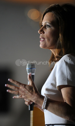 Michele Bachmann attends the Blackhawk County Republican annual Lincoln Day Dinner at the Electric Park Ballroom August 14, 2011 in Waterloo, Iowa. Credit: Dennis Van Tine / MediaPunch
