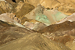 Multi-hued rock at Artists Pallette in Death Valley