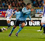 Nederland, Heerenveen, 11 april 2012.Seizoen 2011-2012.Eredivisie.SC Heerenveen-Ajax.Ismail Aissati van Ajax juicht nadat hij de 0-2 heeft gescoord