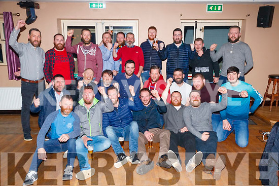 The contestants at the Causeway Beard Festival on Saturday night last.