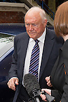 © Joel Goodman - 07973 332324 . 17/06/2013 . Preston , UK . STUART HALL arrives at Preston Crown Court this morning (Monday 17th June) for sentencing . The 83 year old TV presenter admitted indecently assaulting 13 girls aged nine up . A further charge of rape has been ordered to lie on file . Photo credit : Joel Goodman
