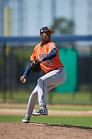 Houston Astros pitcher Jojanse Torres (89) during a Minor League Spring Training Intrasquad game on March 28, 2019 at the FITTEAM Ballpark of the Palm Beaches in West Palm Beach, Florida.  (Mike Janes/Four Seam Images)