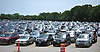 Vehicles fill the main lot of Belmont Park hours prior to the 150th running of the Belmont Stakes on Saturday, June 9, 2018