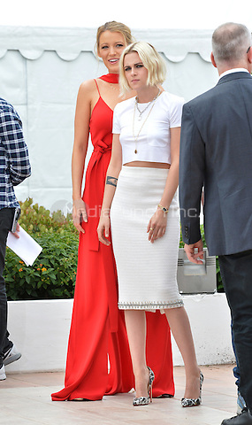 Blake Lively, Kristen Stewart at the 'Cafe Society' Photocall during the 69th Annual Cannes Film Festival at the Palais des Festivals on May 11, 2016 in Cannes, France.<br /> CAP/LAF<br /> &copy;Lafitte/Capital Pictures /MediaPunch ***NORTH AMERICA AND SOUTH AMERICA ONLY***