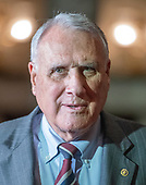United States Senator Jon Kyl (Republican of Arizona) is sworn-in to replace the late US Senator John McCain (Republican of Arizona) in the Old Senate Chamber in the US Capitol in Washington, DC on Wednesday, September 5, 2018.<br /> Credit: Ron Sachs / CNP<br /> (RESTRICTION: NO New York or New Jersey Newspapers or newspapers within a 75 mile radius of New York City)