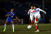 Luke Howell of Dagenham and Mike Fondop of Halifax Town during FC Halifax Town vs Dagenham & Redbridge, Vanarama National League Football at The Shay on 13th March 2018