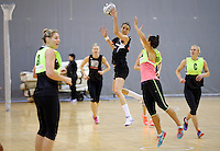 19.10.2016 Silver Ferns Anna Harrison in action during the Silver Ferns Training in Invercargill. Mandatory Photo Credit ©Michael Bradley.