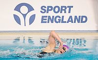 Picture by Allan McKenzie/SWpix.com - 17/12/2017 - Swimming - Swim England Nationals - Swim England National Championships - Ponds Forge International Sports Centre, Sheffield, England - Emily Clarke, Sport England, branding.