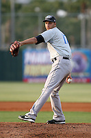 April 16, 2009:  Starting Pitcher Brandon Magee of the Dunedin Blue Jays, Florida State League Class-A affiliate of the Toronto Blue Jays, during a game at Jackie Robinson Stadium in Daytona Beach, FL.  Photo by:  Mike Janes/Four Seam Images