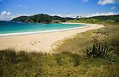 Takini & Matai Points at  Maitai Bay on the northern end of the Karikari Peninsula, Far North,Northland, New Zealand.