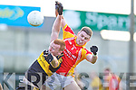 Johnny Buckley, Dr. Crokes in action against Aidan Walsh, in the All Ireland Senior Club Semi Final at Portlaoise on Saturday.